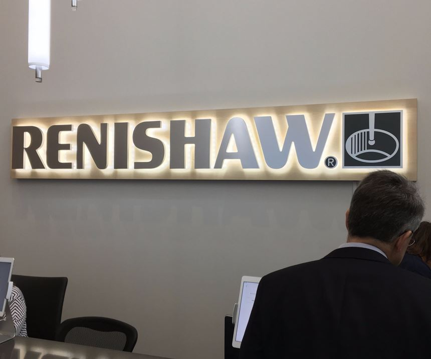 Renishaw front desk in West Dundee, IL.