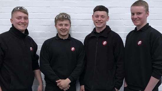 Moldmaking apprentices at Rutland Plastics in the UK.