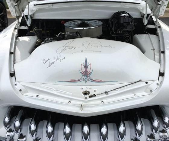 Front underhood of custom Hudson automobile