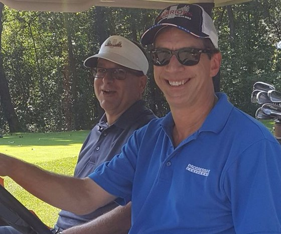 Glenn Starkey of Progressive Components at the iWarriors golf outing.