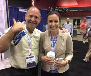 Ray Coombs (left) and Karen Cornelissen (right) at Amerimold Expo 2017