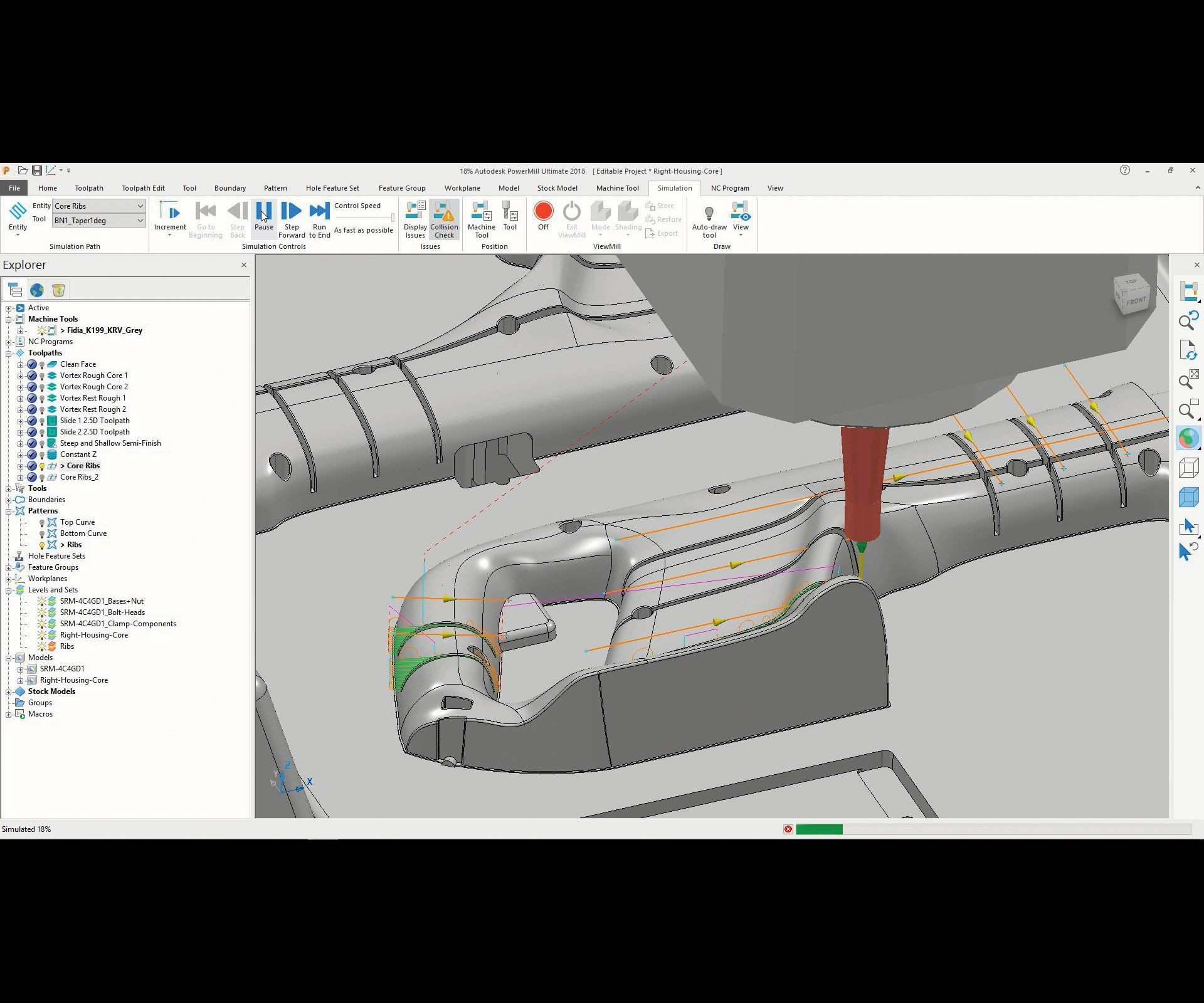 Example of advanced CAM software.