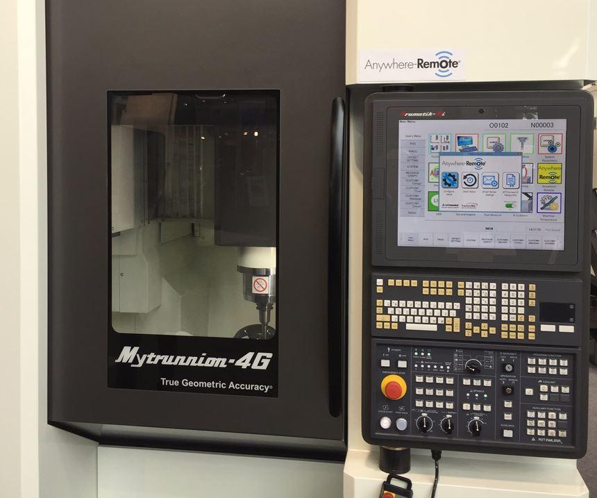 Kitamura's Anywhere-Remote on Kitamura Mytrunnion 4G machining center