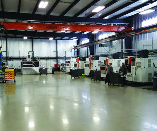 View of shop floor at Extreme Wire EDM