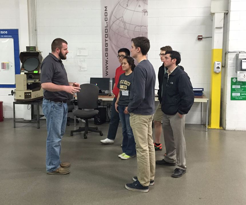 OSG USA manager speaks to high school students