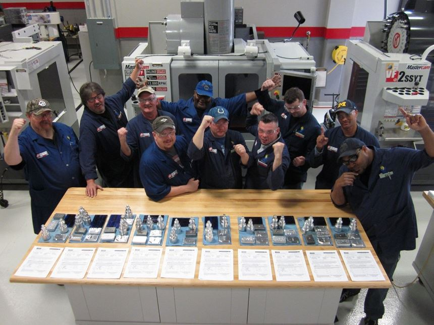 First class of military veterans to graduate from Vincennes University Gene Haas Training Center