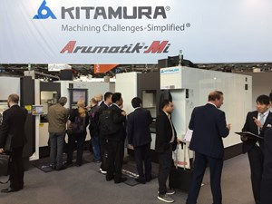 Visitors at Kitamura booth, EMO 2017