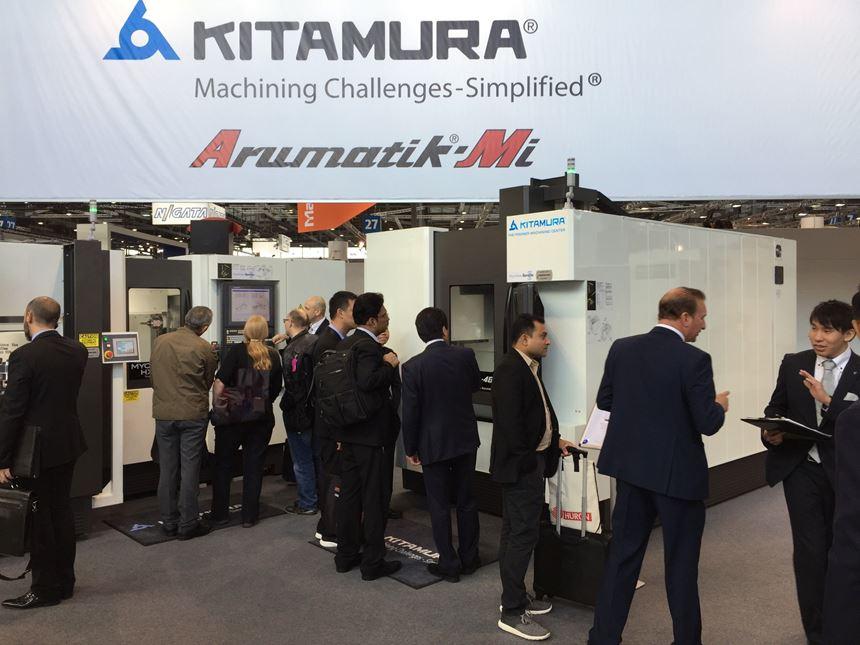 Visitors at Kitamura booth, EMO 2017