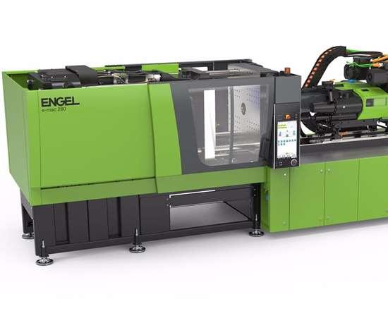 The Engel E-Mac 280 all-electric molding machine.