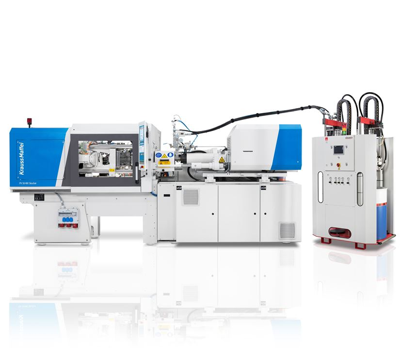 Krauss Maffei's PX 50-180 SilcoSet machine