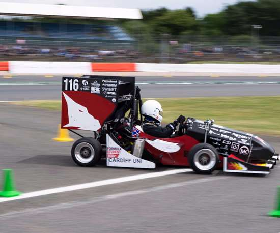 Renishaw was a sponsor of the Cardiff Racing team Formula Student car.