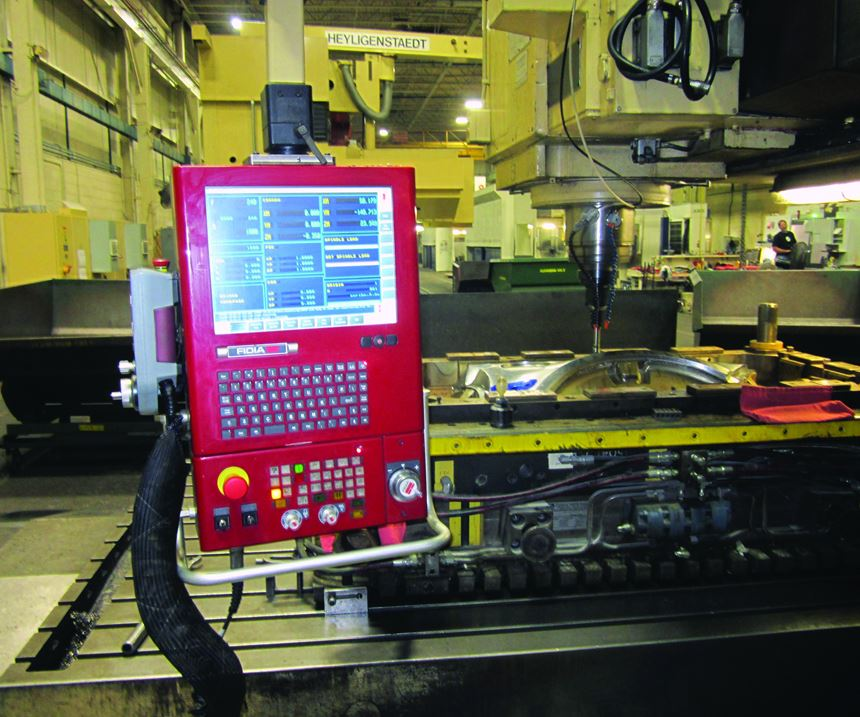 An early retrofit of a Fidia CNC control on one of Century Tool and Gage's machines.