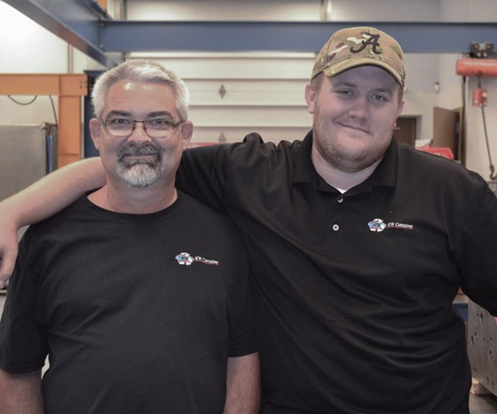 Bill Stanton, a mentor, on the left and Dustin Jordan, a technician, on the right