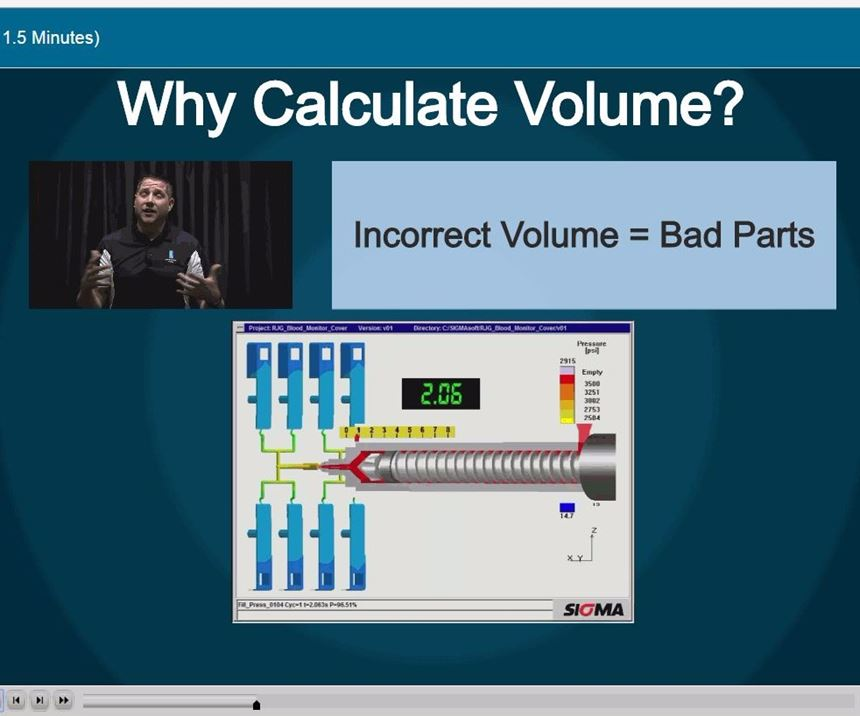 Screen shot of Math for Molders course player