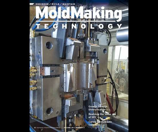 MoldMaking Technology magazine cover from February 2017