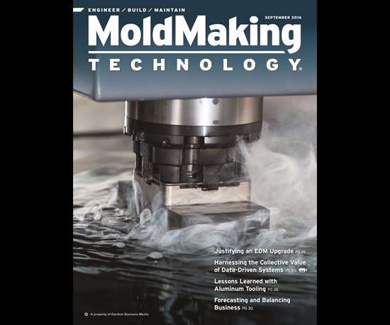 MoldMaking Technology magazine cover from September 2016