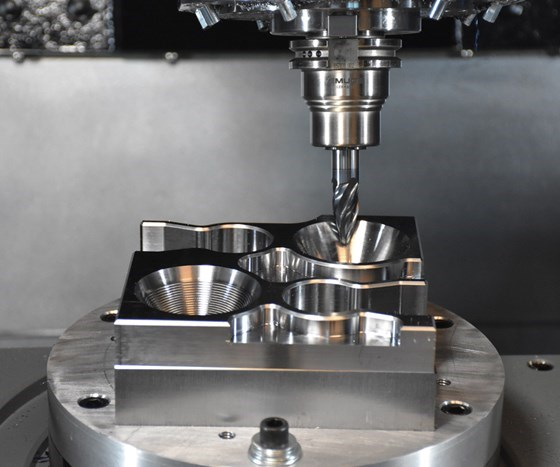 Manufacturing laboratory testing of tool paths for high-efficiency finishing
