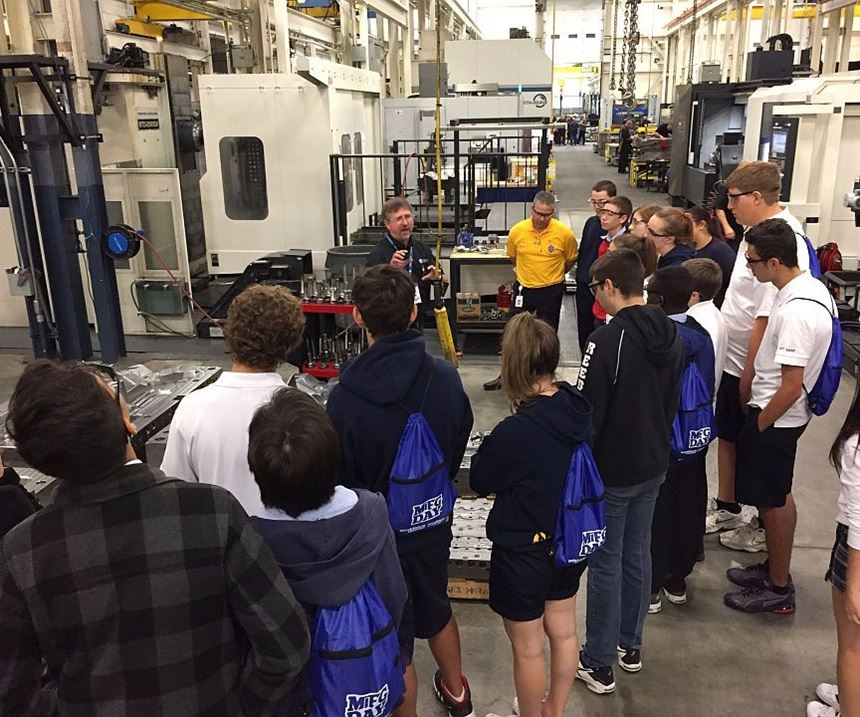 Students learn about moldmaking at Cavalier Tool and Manufacturing.
