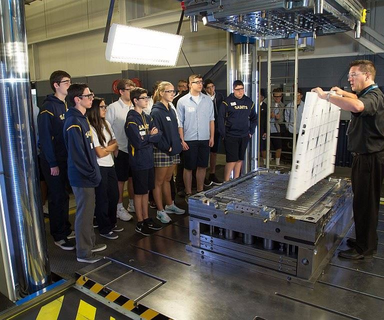 Students learn about moldmaking at Cavalier Tool and Manufacturing