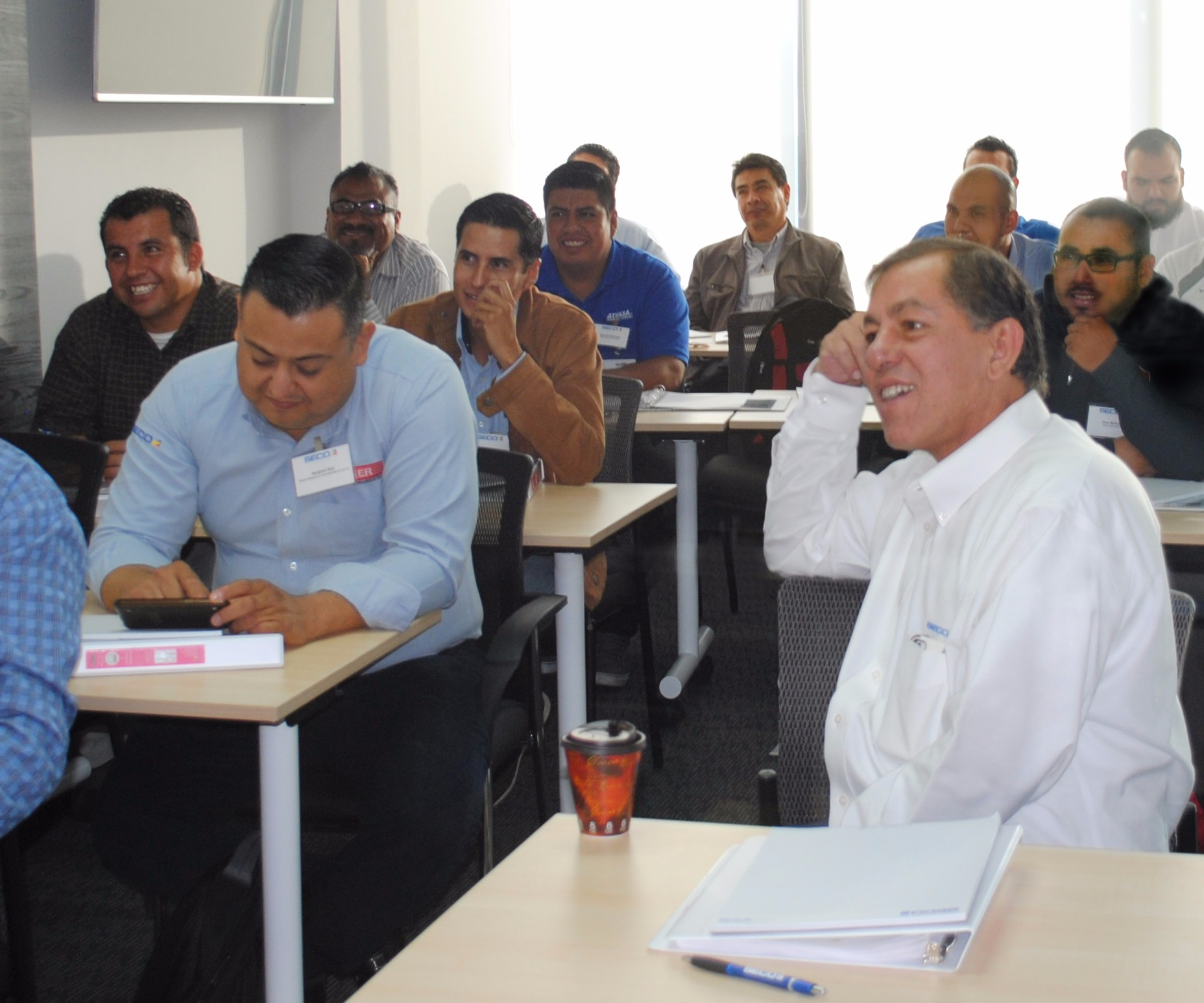 Room of participants in Seco training program