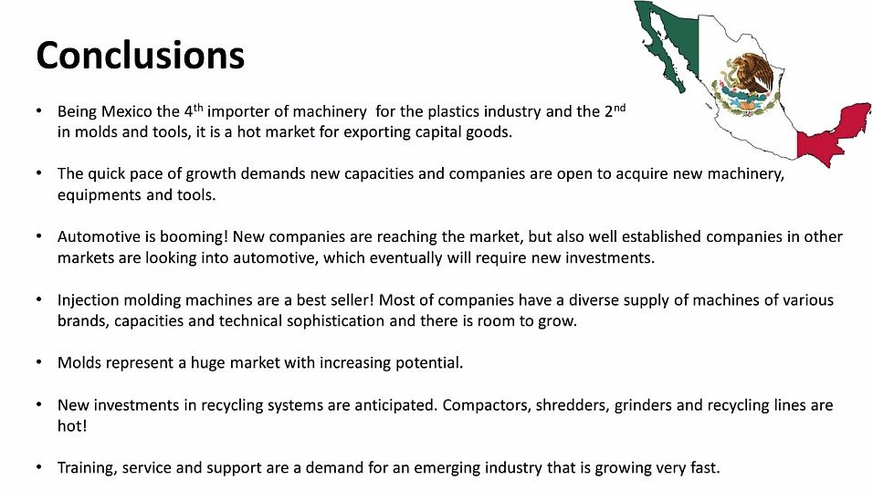 Summary of Mexico plastics industry information