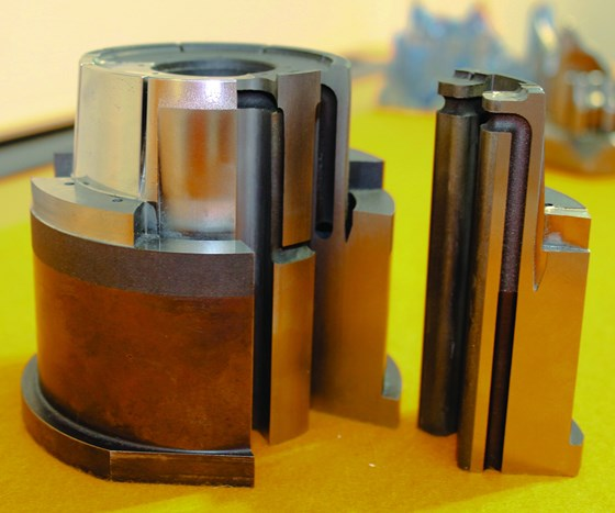 pieces created by SLM and conventional machining