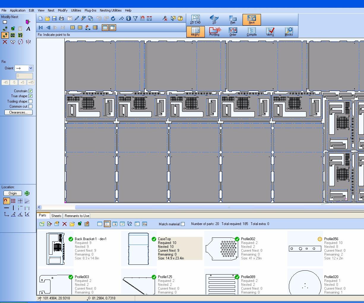 Screenshot of Visi 2017 R2 software from Vero