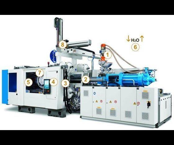 Krauss Maffei injection molding machine