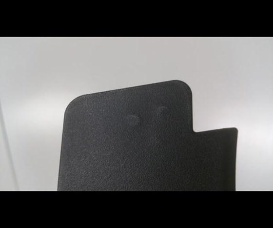push pins visible through surface