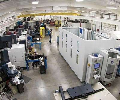 Grob G550 five-axis horizontal machining center on Krieger shop floor