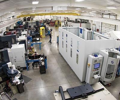 Grob G550 five-axis horizontal machining center on Krieger shop floor