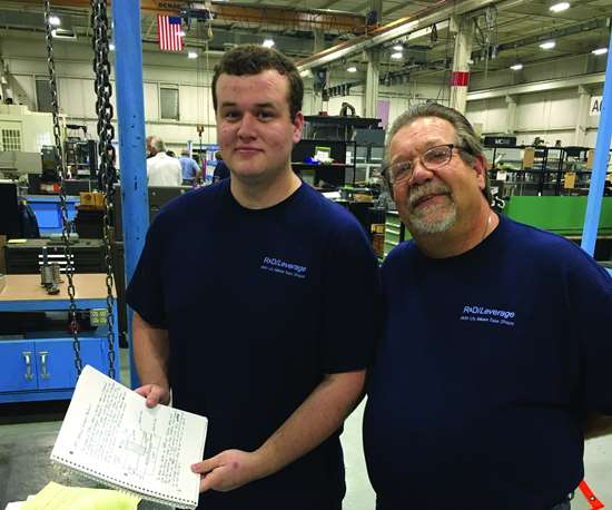 first-year apprentice Isaac Denney (left) and Lonnie Wise (right)