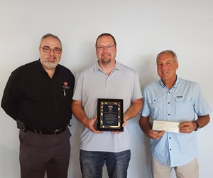 Andy Baker of Byrne Tool and Design is honored by SPE's Mold Technologies Division.