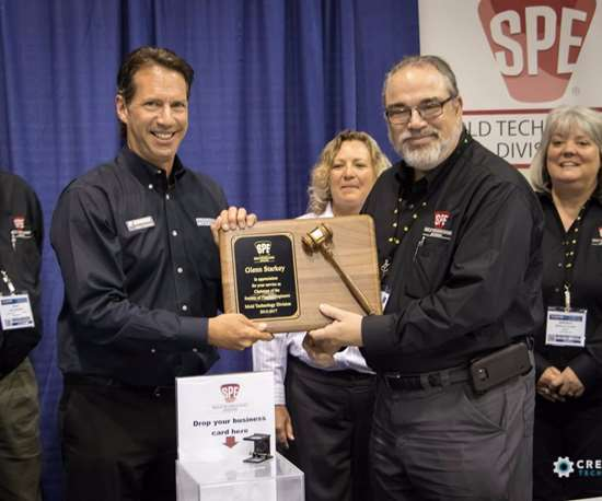 Glenn Starkey recognized for leadership of SPE Mold Technologies Division