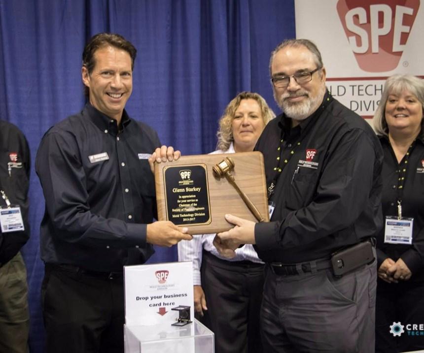Glenn Starkey recognized for leadership of SPE Mold Technologies Division