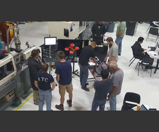 Getting ready to launch an injection mold sampling.