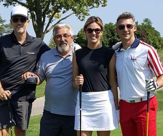 John Demakis, Tony Demakis, Patricia Miller and friend.