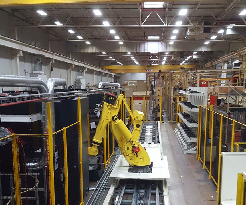 Overview of automated CNC cell at Cooper Tires