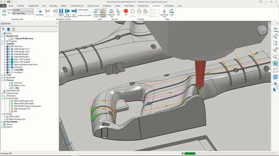 Autodesk PowerMill 2018 screen shot