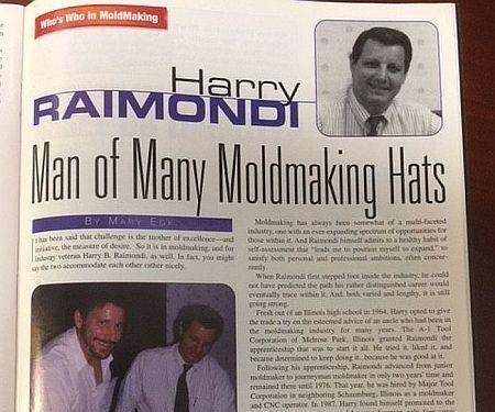 Harry Raimondi in MoldMaking Technology Magazine, June 1999