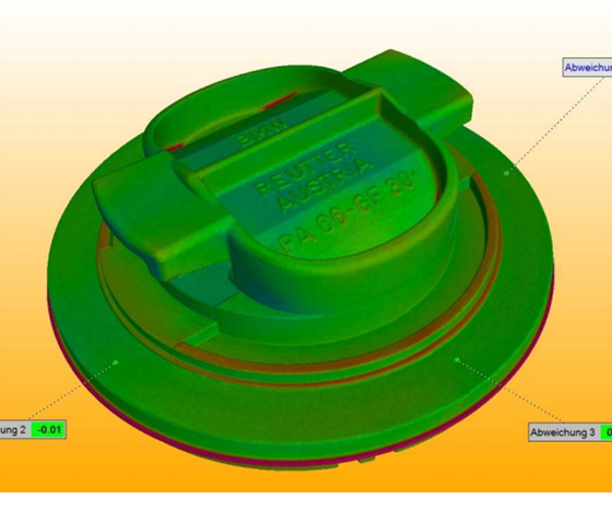 CT scanning quickly provides moldmakers and molders the ability to overlap actual scan data with that of the original CAD model