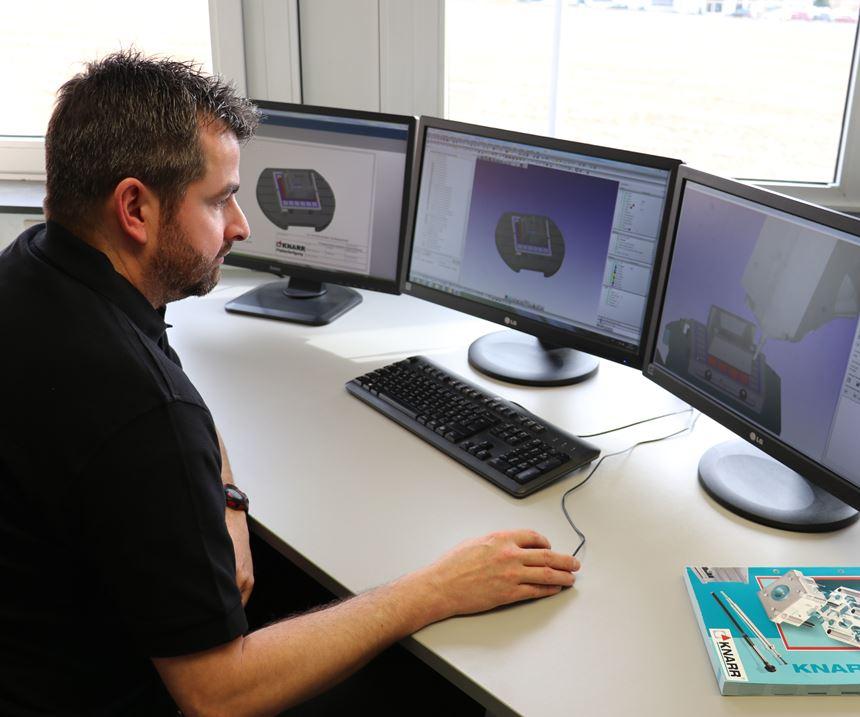 CAM programmer uses Open Mind software at Knarr.