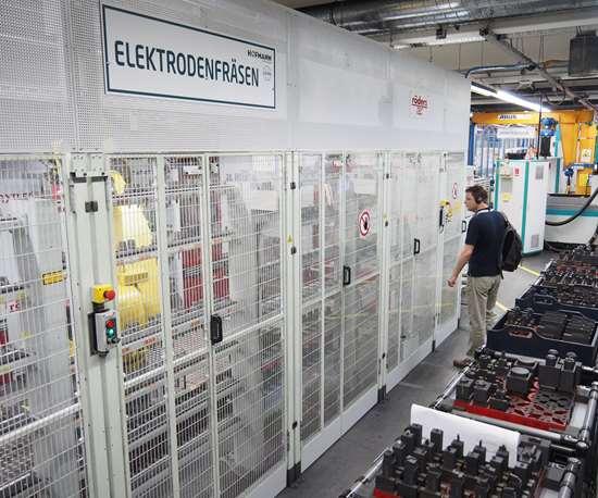 Röders electrode milling line