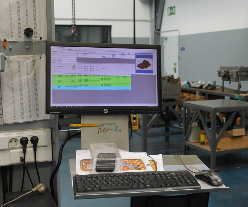 In-house developed software for paperless mold production