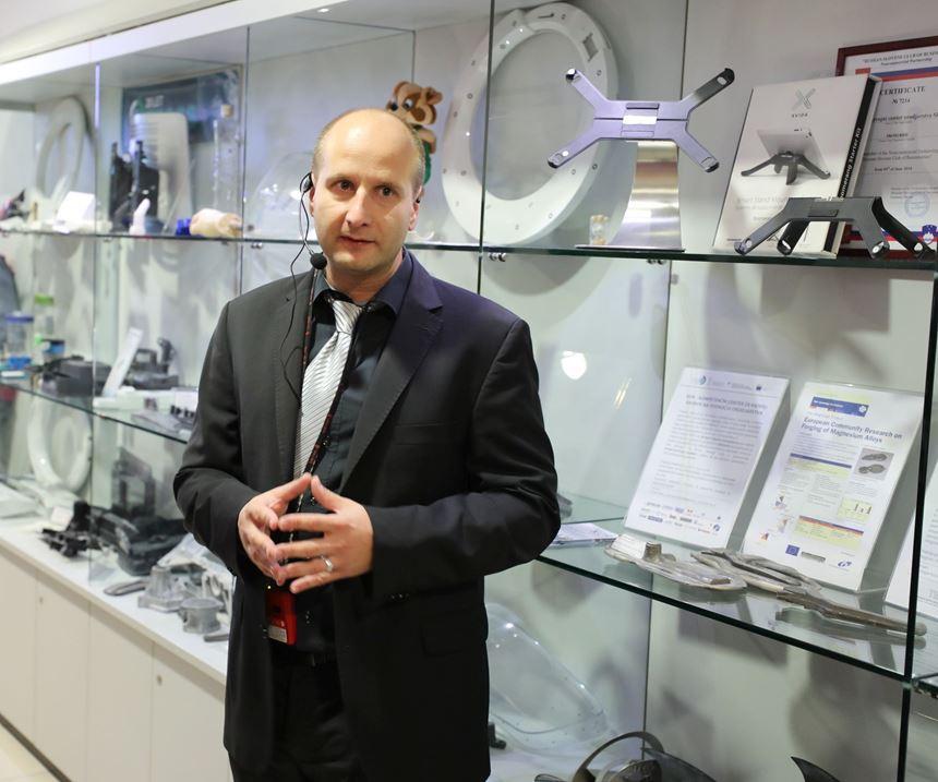 Aleš Hančič, Managing Director of the Slovenian tool and moldmakers' association Teco