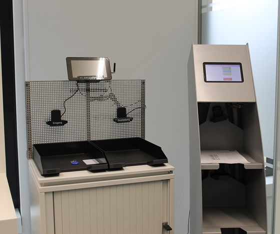 A scanner developed at WBA that scans all order data