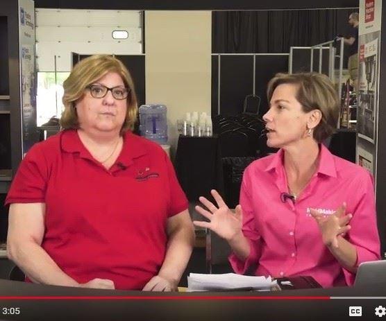 Cyndi Kustush and Christina Fuges of MoldMaking Technology Magazine