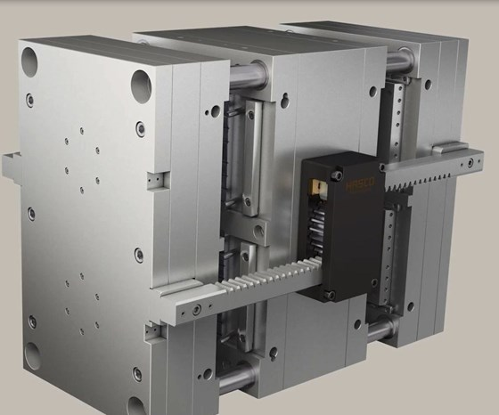 Hasco stack-mold with standard components.
