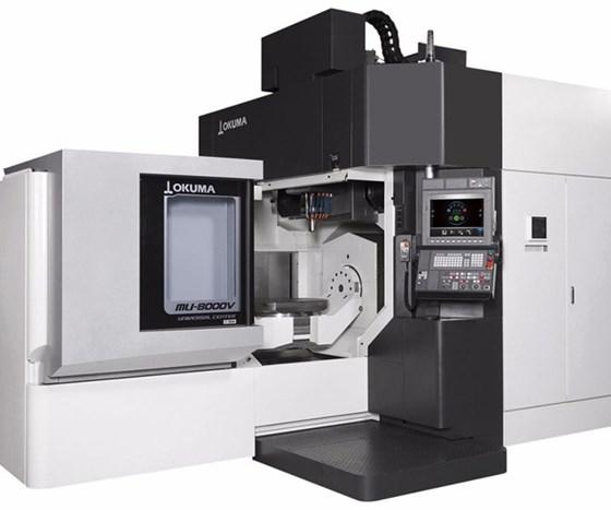 Okuma's MU-8000V-L five-axis vertical machining center