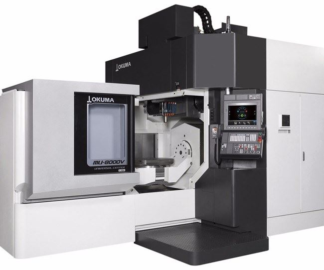 Okuma's MU-8000V-L five-axis vertical machining center